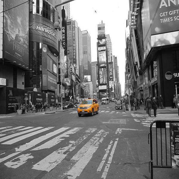 Yellow New York City Cab, Times Square