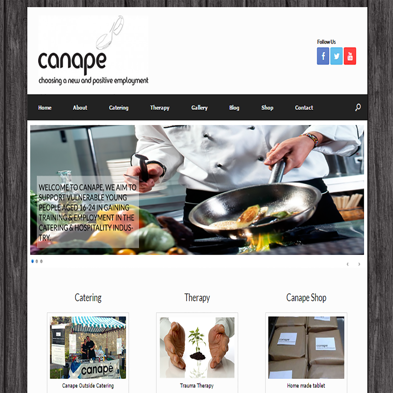 Canape - Choosing a new & positive employment CMS website