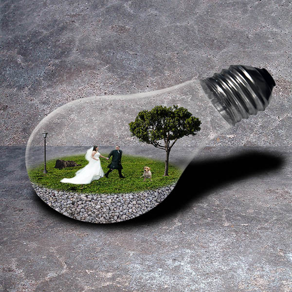 Lightbulb Composite Image