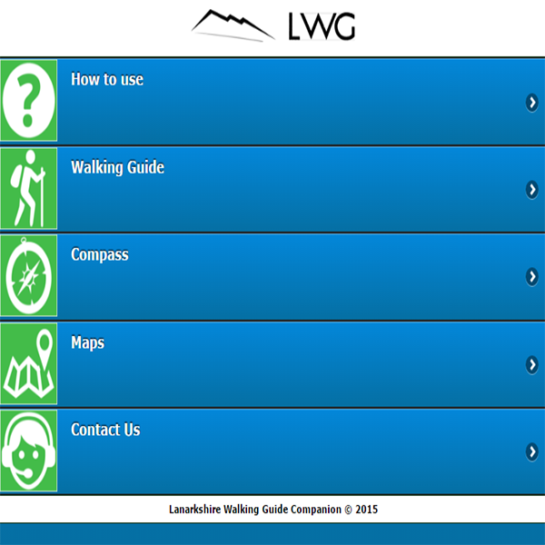 Lanarkshire Walking Guide Companion Guide App